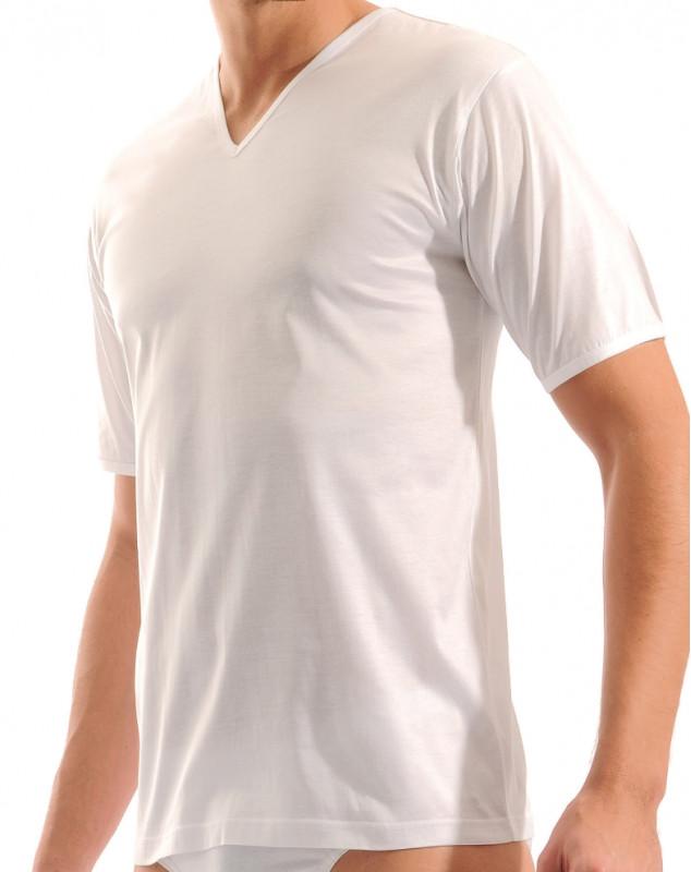 MARINER : T-shirt col V Jersey - Blanc