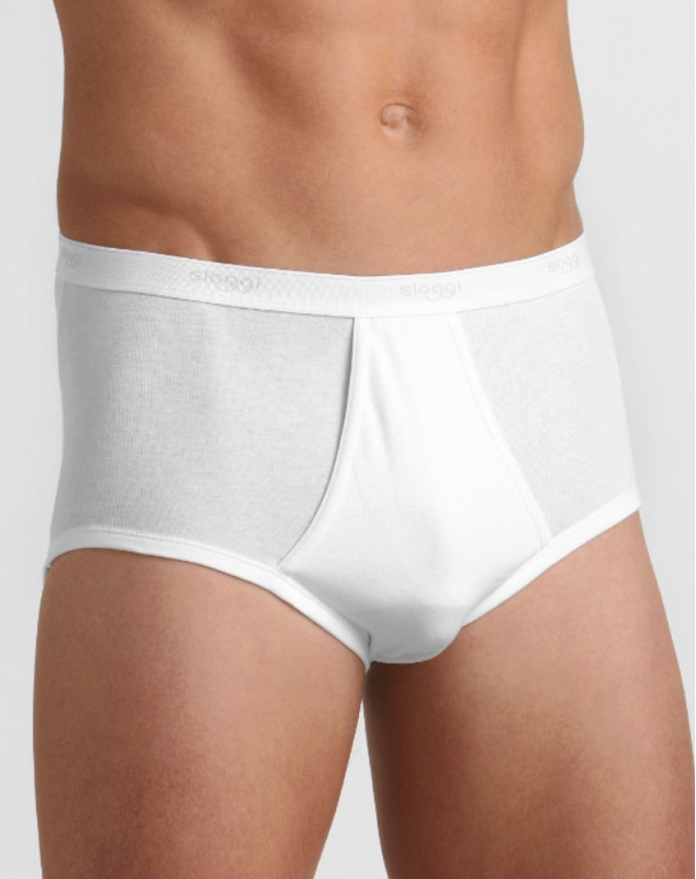 Sloggi For Men slips maxi ouvert (pack de 3) (BLANC)