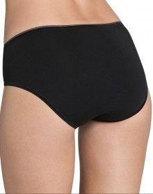Slip taille haute midi Sloggi Feel Sensational (coton 44%) (NOIR)