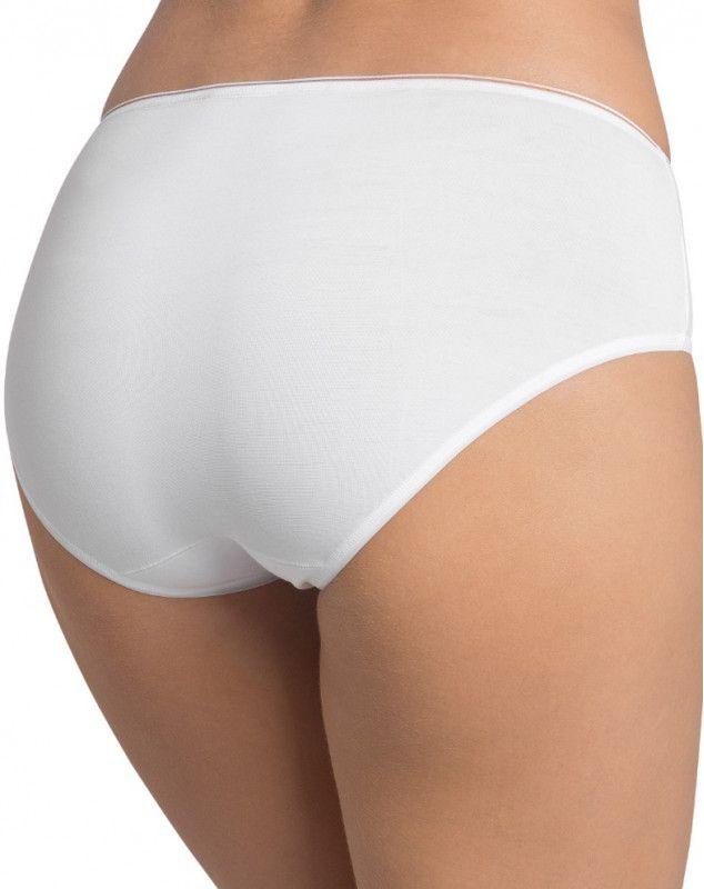 Slip taille haute midi Sloggi Feel Sensational (coton 44%) (BLANC)
