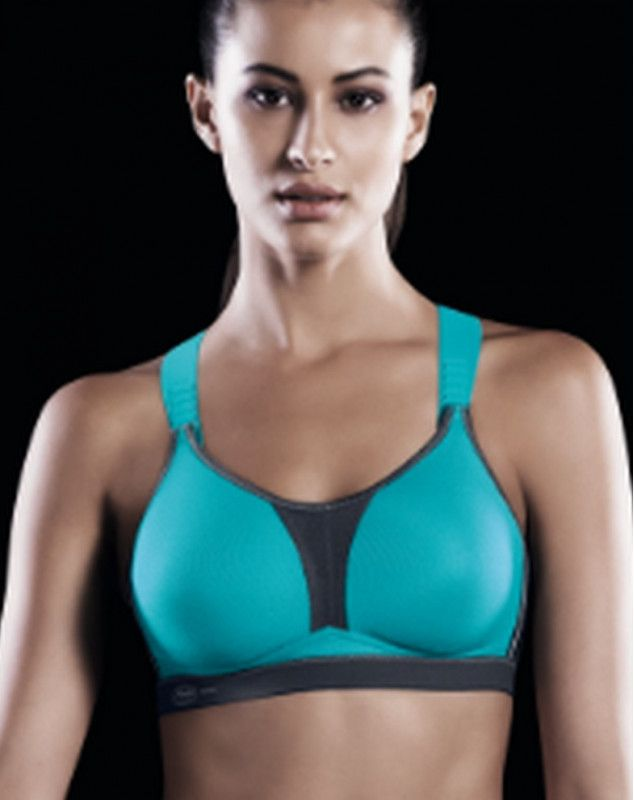 Anita Active sports Dynamix star bra (BLEU ET GRIS)