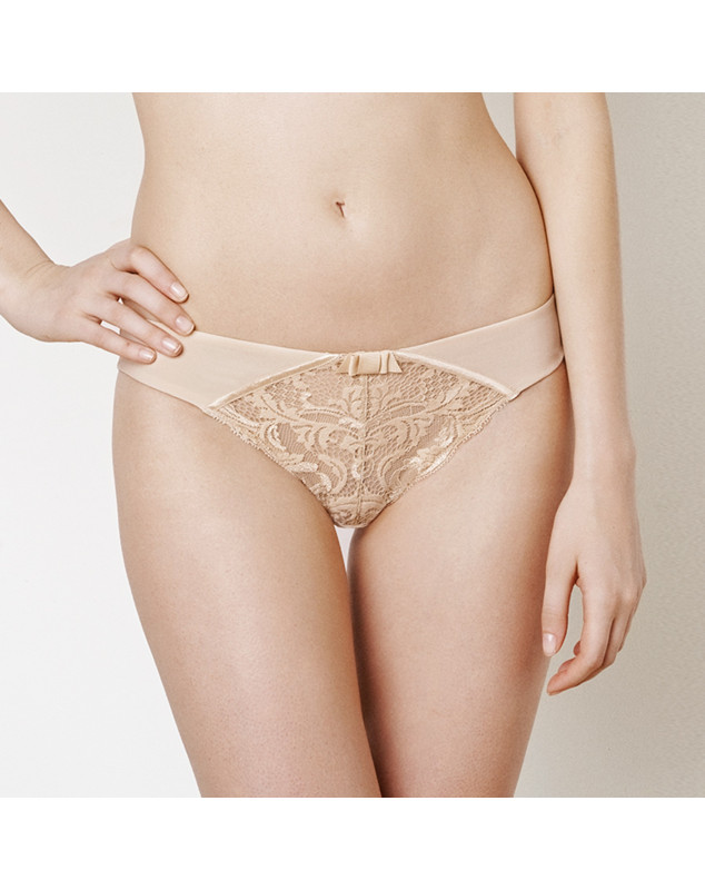 Slip Lou Piccadilly (Rojo y Piel) ( POUDRE (PICCADILLY))