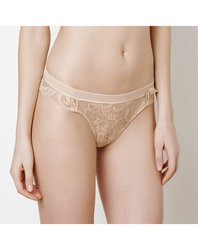 Thong LOU Piccadilly (Red and Skin) ( POUDRE (PICCADILLY))