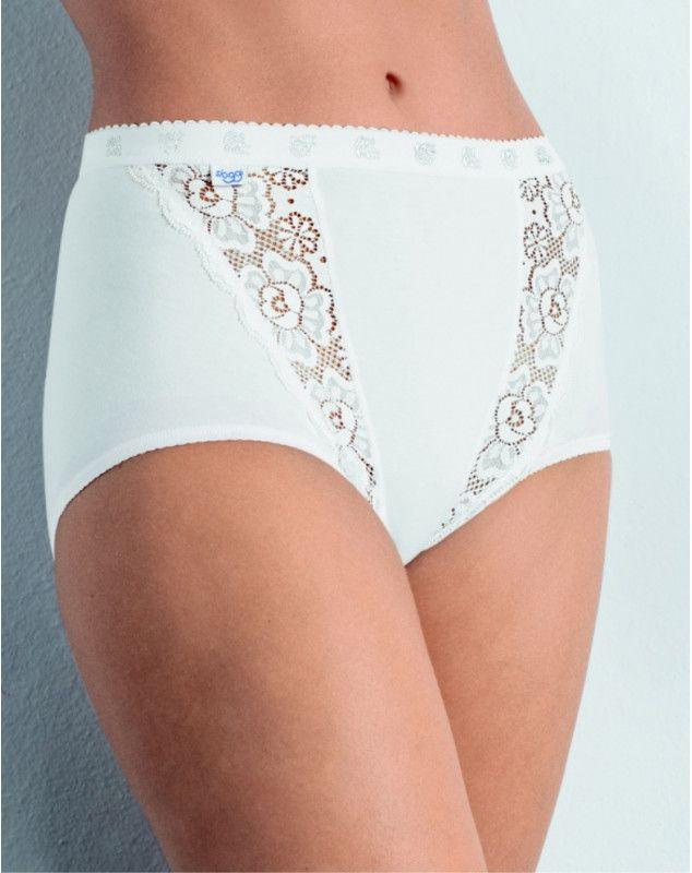 SLOGGI : culottes Chic maxi (pack de 4 ) (BLANC)