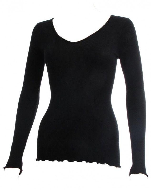 camiseta mangas longa Oscalito 3416 (NOIR)