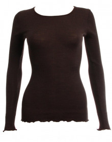 Oscalito Round collar Long Sleeve Undershirt 3446 Chocolate