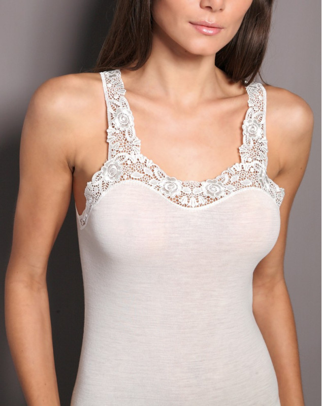 tank top lace wool & silk Moretta 5021 (NATUREL)