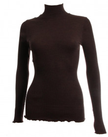Oscalito Funnel Collar Sweater 3429 (Chocolate)