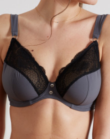 Bra fitting cups deep Jane Barbara (gray)