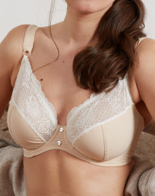 Bra cups deep Jane Barbara (ivory powder)