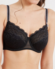 Large size bra Barbara Aventure (black)