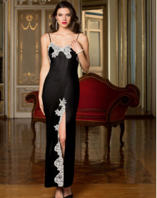 Long nightdress Lise Charmel Splendeur Soie (Splendeur Noir)