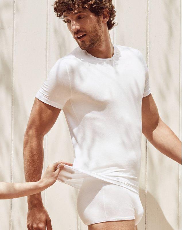 T-Shirt Sloggi Basic Soft Men White