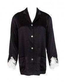 Jaqueta de pijamas Lise Charmel Splendeur Soie (Splendeur Noir)