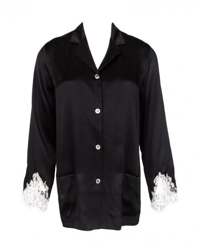 Chaqueta de pijama Lise Charmel Splendeur Soie (Splendeur Noir)