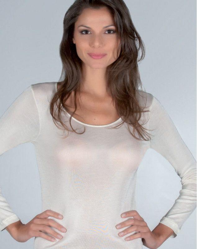maillot de corps Moretta manches longues en 100% soie