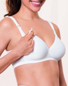 Soutien-gorge d'allaitement sans armature coque spacer Anita Maternity (Blanc)