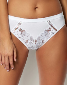 Brief Sans Complexe Coton d'arum (White)