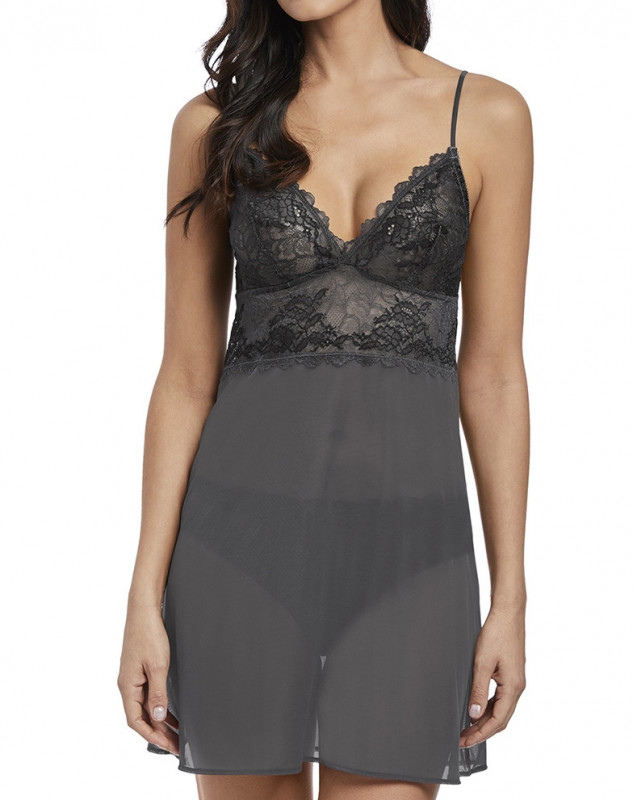 Nightdress Wacoal Lace Perfection (Charcoal)