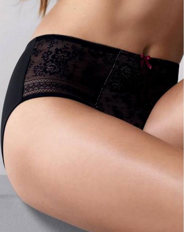 Pantalones de flores (negro) de rosa Faia