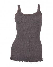 débardeur bretelles laine & soie Moretta 5760 gris