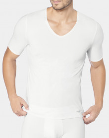 Tee-Shirt col V Sloggi Men Zero Feel (Blanc)