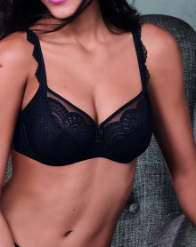 Sujetador con aros Rosa Faia Selma (Negro)