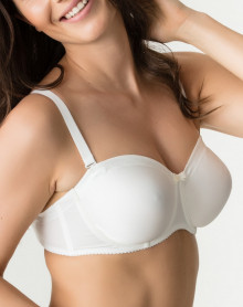 Prima Donna Satin Strapless Bra (Naturel)