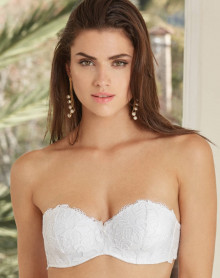 Strapless removable straps bra Lise Charmel Acanthe Arty (White)