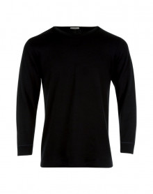 T shirt Col Rond Manches Longues Eminence (Noir)