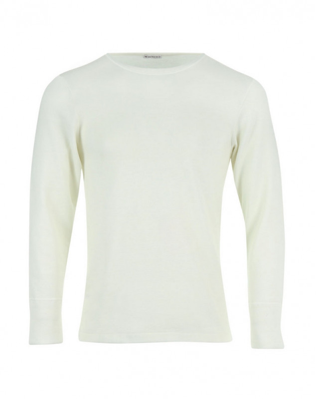 T shirt Col Rond Manches Longues Eminence (Blanco)
