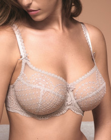 Underwired low-necked bra Empreinte Norah (Gris rosé)