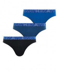 Lot de 3 Slips Athena (Noir/Marine/Bleu)