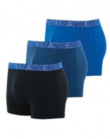 Lot de 3 Boxers Athena (Noir-Marine-Bleu)