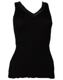Débardeur Oscalito plissé bord satin (noir)