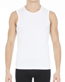 T-shirt without sleeves HOM Business Supreme Cotton (White)