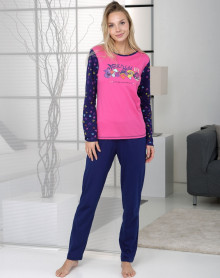 Magenta pyjama 100% cotton Massana