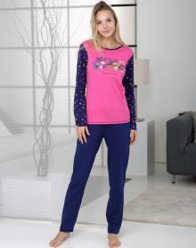 Pyjama 100% coton magenta Massana
