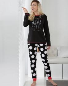 Pijama negro Effect Massana