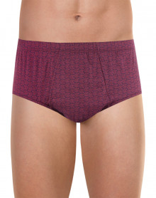Eminence open high waist brief (Dogs burgundy)