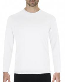 Tee-shirt chaleur naturelle col rond manches longues Eminence (Blanc)