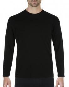 Camiseta Eminence Calor Natural manga larga y cuello redondo (Negro)
