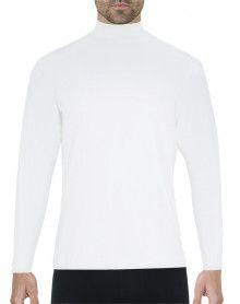 Tee-shirt chaleur naturelle col cheminée manches longues Eminence (Blanc)