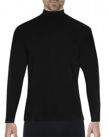Camiseta Eminence Calor Natural manga larga y cuello de chimenea (Negro)