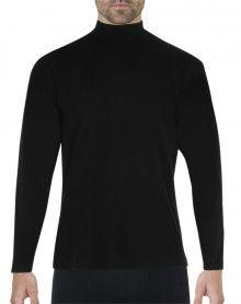 Tee-shirt chaleur naturelle col cheminée manches longues Eminence (Noir)