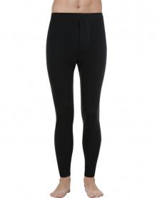 Pantalone largo suave calor natural Eminence (Negro)