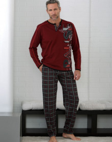 Pyjama grenat vigoré Massana