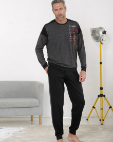 Pijama forma jogging gris Massana