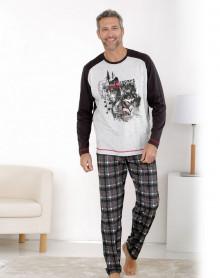 Pyjama forme jogging gris Massana