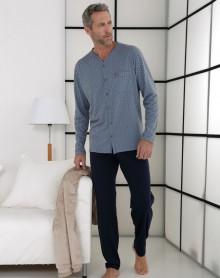 Pyjama boutonné bleu Massana